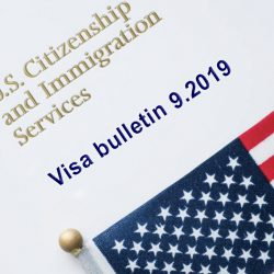 Bảng tin thị thực Mỹ - Visa Bulletin tháng 9/2019